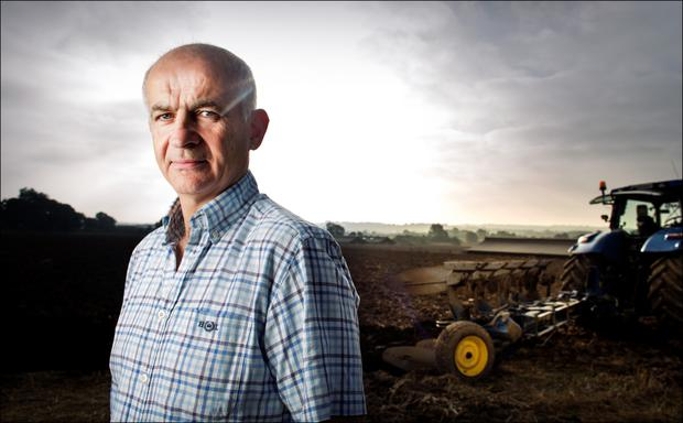 Former IFA president Eddie Downey pictured on his Meath farm. Photo: Dave Conachy