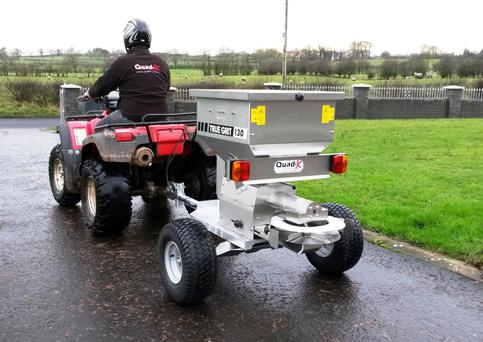 The True Grit is a small scale commercial salt spreader popular with farms and hire companies.
