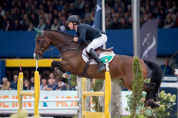 Ger O'Neill on his way to winning the gold medal on Killossery Kaiden. Photo: Dirk Caremans/FEI