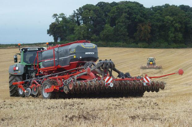 The 6m Horsch Focus TD combined grain and fert drill was bought from Kellys of Borris for €90,000 plus VAT. Photo: Seamus Farrelly