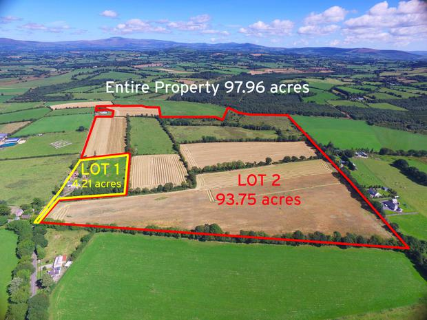 Farm for sale at Crecrerin near Tullow, Co Carlow