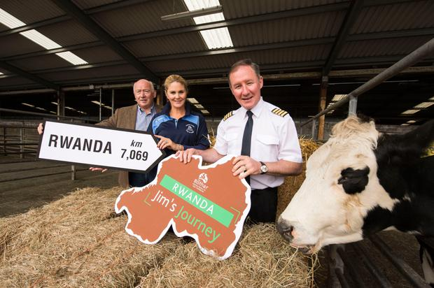 Seamus Maguire, General Manager MSD Animal Health, Bóthar Ark; Niamh Mulqueen, Corporate Relations Director; and Jim Gavin, Dublin senior football manager.