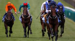 Ryan Moore riding Air Force Blue to win the 2015 Dewhurst Stakes at Newmarket racecourse on October 10, 2015 in Newmarket, England Photo: Alan Crowhurst/ Getty Images