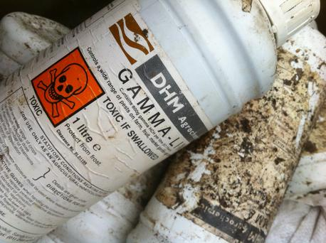 Banned and highly chemicals waste still exists on Irish farms
