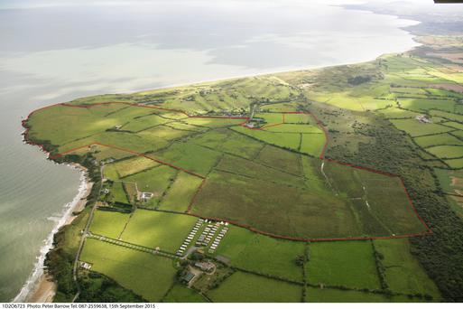 The 240ac coastal farm at Brittas Bay in Co Wicklow is on the private treaty market