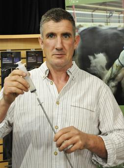 Daniel Power, inventor of the Bovine Wash Out Rod which won a gold medal at the National Dairy Awards