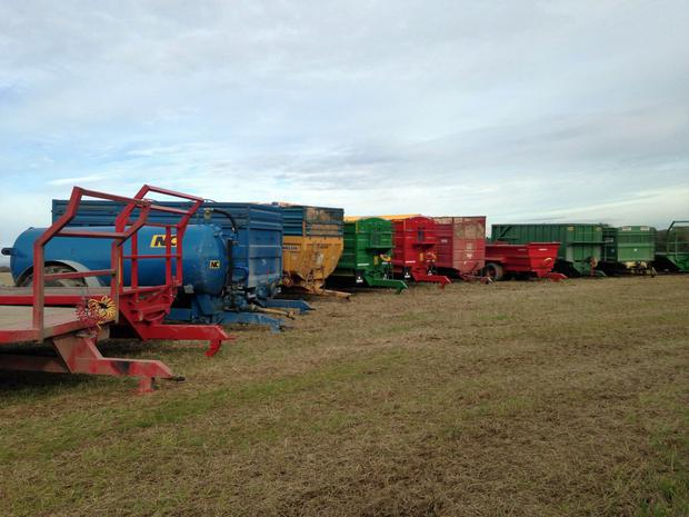 Some of the trailers and other equipment available at Stafford Plant Solutions