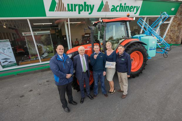 Pictured at Murphy Machinery, Kilkenny were (l-r): Declan O'Halloran, Head of Sales, Zurich; Fintan Murphy, Murphy Machinery; Michael Mooney; Arlene Regan, Marketing Manager, Irish Independent and Pat Kirwan, Murphy Machinery. Photo: Dylan Vaughan