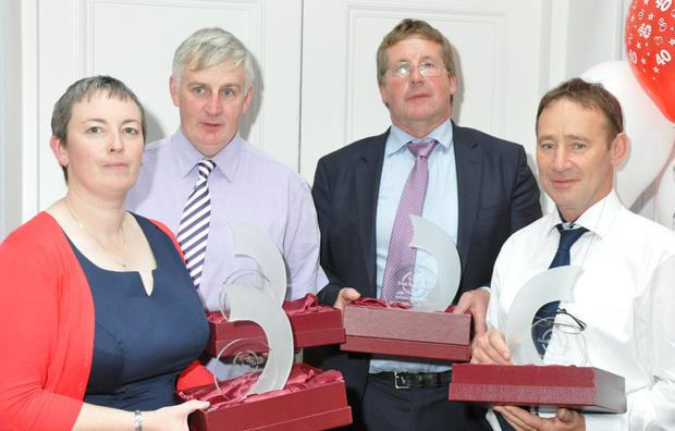 Four of the original Texel flock owners - Lorraine Brennan, Michael Murray, John Donohoe and Donal Mee - were honoured at the recent Irish Texel Sheep Society 40th anniversary celebrations