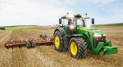 A top of the range 400hp tractor will complete the line-up of John Deere's high horse power 8R Series from 2017