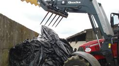 To avoid accidents make sure the quick release for loader attachments is working properly