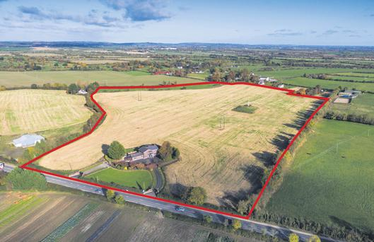 The 48ac residential farm is located at Donaghmore on the outskirts of Ashbourne, Co Meath and is 20km from Dublin