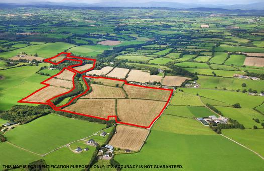 The 78ac non-residential organic farm is located at Enniskeane in west Cork