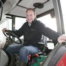 Barry Lenihan at work on his farm in Adare, Co Limerick. Photo: Liam Burke/Press 22