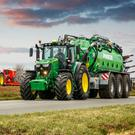 Deere's new 230hp-rated 6230R and 250hp 6250R tractors should interest contractors and bigger tillage farmers.