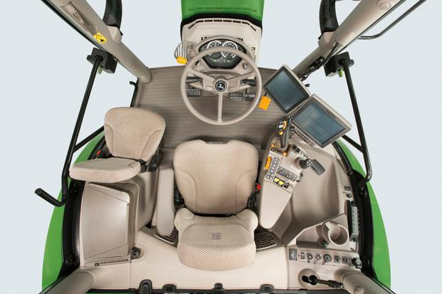 A hydro-pneumatic cab suspension system offers more driving comfort and isolation from noise and vibration