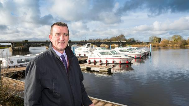 Brendan O'Loughlin pictured by the banks of the Shannon in Banagher, Co Offaly. Photo: Quinn Images