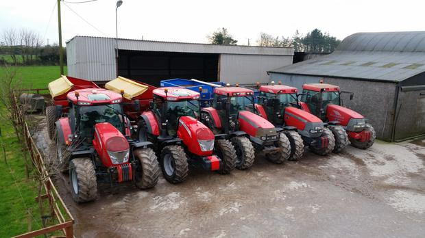 Ready for action: The Fitzgeralds' fleet consists of: 2004 MTX 140 - 12,000 hours, owned from new; 2008 MTX 150 - 12,500 hours, bought second hand; 2008 MTX 150 - 9,000 hours, owned from new; 2014 X7.660 - 4000 hours, owned from new; 2017 X7.650 - 20 hours, owned from new