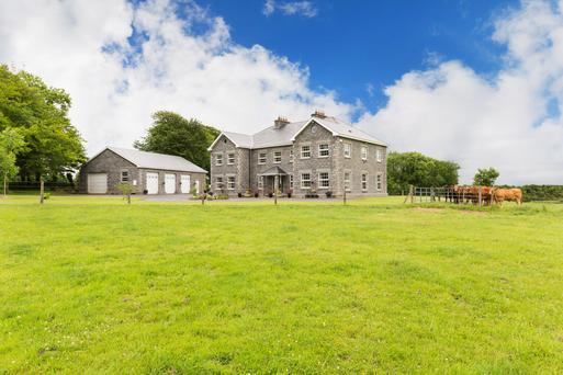 Lough Garr House near Ruan in East Clare comes with a 5ac lake, 6ac of woodlands and 29ac of good pasture land