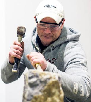 Stonemason Seamus Feehan from Roscrea is one of the tutors on the course