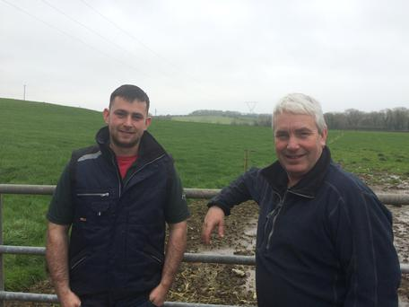 Paul & Michael Reidy are milking 130 cows in partnership. 90 cows are calved to date and calves will be moving onto OAD feeding this week