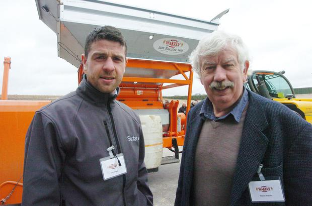 Phelim Wakely (right) with his son, Cian, who also works in the family business