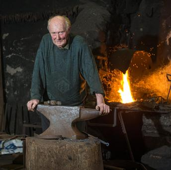 Ireland's oldest working Blacksmith still making sparks fly