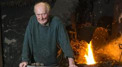 Blacksmith Florrie O'Sullivan is the fourth generation blacksmith in his family - but also the last. Photo: Mark Condren
