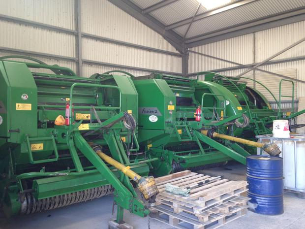 The team makes 27,000 bales each year and run three McHale Fusions.
