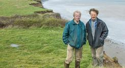 William and Brian Barry on their farm in Maytown, Co Wexford. Photo: Pat Moore.