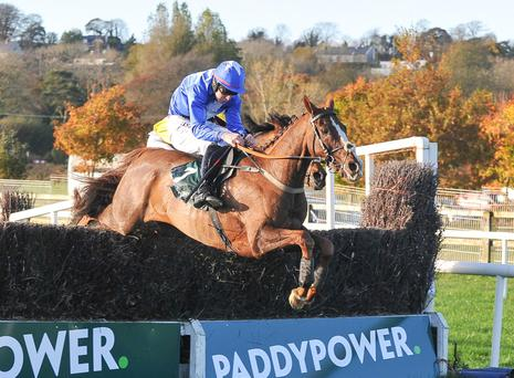 Raz De Maree and Ger Fox clear the last to land the Paddy Power Cork Grand National Handicap Chase at Cork