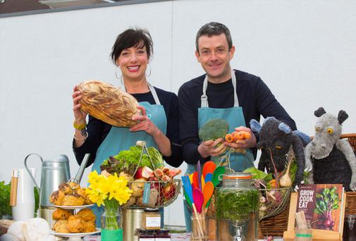 Grow It Yourself (GIY) community manager Karen O'Donoghue and GIY founder Michael Kelly