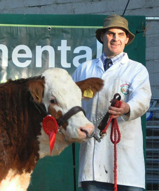 Gordon Salter, Dunmanway, Co Cork with Mohona Ganster, reserve Champion of the show.