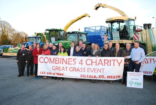 Combines 4 Charity committee members, sponsors and beneficiaries at the launch of the 'Mad for Grass' event at Kiltale GAA club house in Co Meath