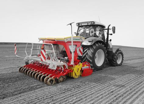 Pottinger's new two in one drill, the Aerosem Duplex, is aimed at mid-size farmers and contractors and will be priced at around €48,000.