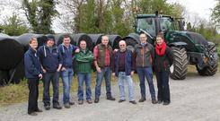 The group of Cavan and Monaghan farmers embark on their '32 County Bale Challenge' on May 29 and aim to cut 100 bales in every county over six days. They will cover an estimated 1,220km during the fundraiser which aims to raise €1,000 in each county for Our Lady's Hospital for Sick Children