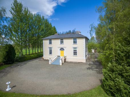 The neo-Georgian style house and 28ac is located 6km from Dunshaughlin and 25km from Dublin