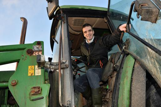 Joe Healy on his farm near Athenry, Co Galway. Photo: Ray Ryan