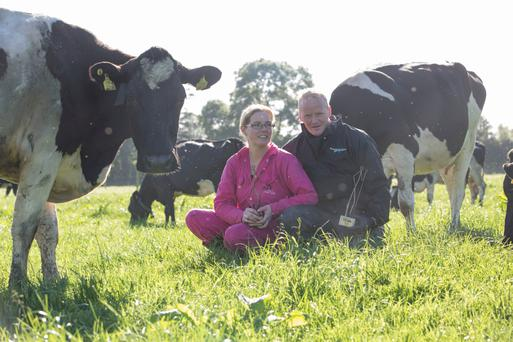 Peter and Paula Hynes on the family farm in Aherla, Co Cork. Photo: Claire Keogh
