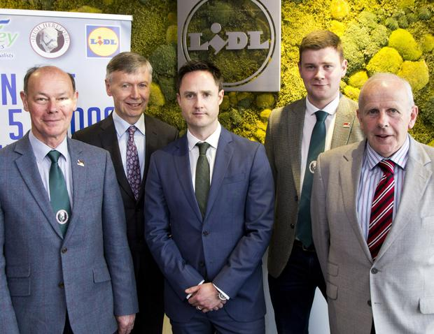 Pictured the launch of the 2017 bursaries were (l-r) Larry Feeney IHBS; Rory Fanning, Slaney International; Liam Casey, Lidl Ireland; Enda Rabbit, IHBS and Willie Branagan, chairman Irish Hereford Society.