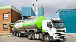 Over 33,000 milk lorries cross the border every year.