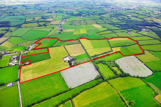 The 90ac farm is located at Kiltallon near the village of Croagh, 7km from Adare