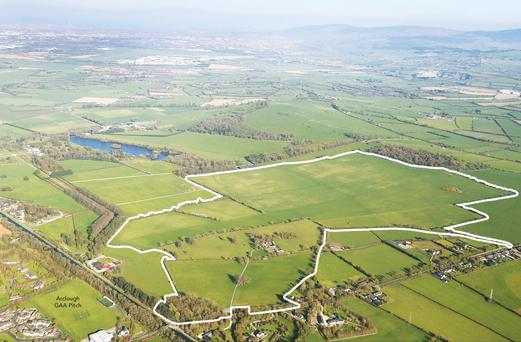 The 205ac farm at Clonaghlis near Straffan sold for €14,500 an acre after brisk bidding from the opening price of €1.7m