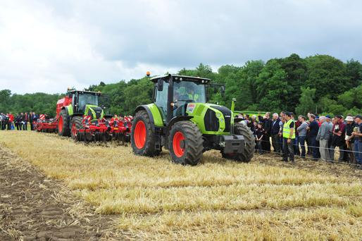 Machinery on display at the Teagasc Oakpark Tillage open day. Photo: Roger Jones