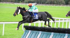 The Black Russian on his way to winning to winning at Ballinrobe with Rachel Blackmore up. Photo: Healyracing.ie