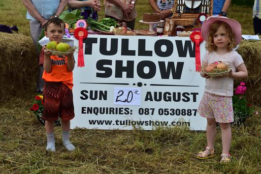 James O Toole and Grace Nolan at the launch evening for the Tullow Show. Photo Roger Jones