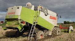 Combines can cause havoc when ground conditions deteriorate