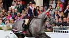 Helen Baker on her lap of honour after winning the supreme hunter championship on board the Irish-bred Mossy