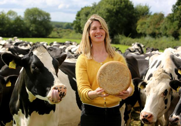 Teresa Roche with the dairy herd on the family farm near Abbey, Co Galway. Photo: Hany Marzouk