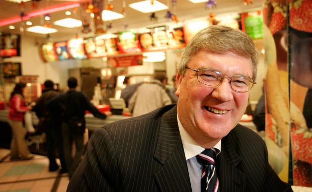 Pat McDonagh inside the O'Connell Street branch of Supermac's. Photo: Gerry Mooney